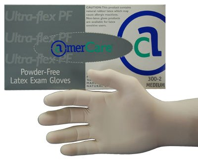 Ultra Flex Powder Free Latex Examination Gloves X-small (300-0)