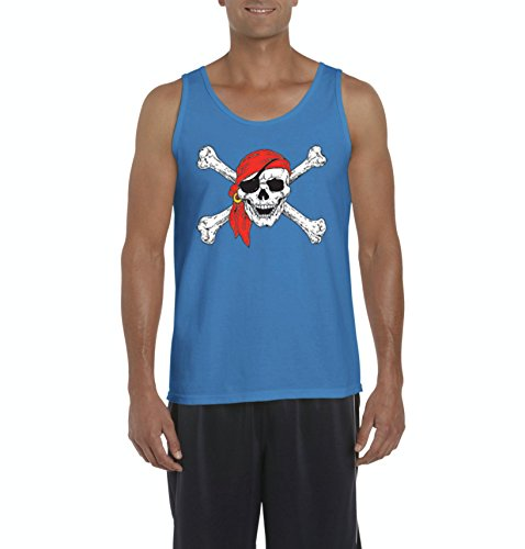 Mom's Favorite Christmas Tank Top Jolly Roger Skull Crossbones Halloween Ugly Sweater Xmas Party Mens -