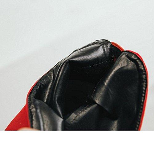 Women Boots Red Half Heels Zipper COOLCEPT dwqPxOYO