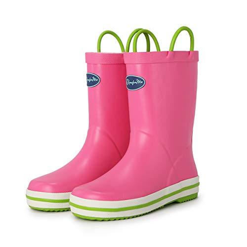 KomForme RNG031-5M Kids Rain Boots Pink
