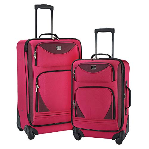 - Protege 2-Piece Expandable Spinner Set Luggage Pink