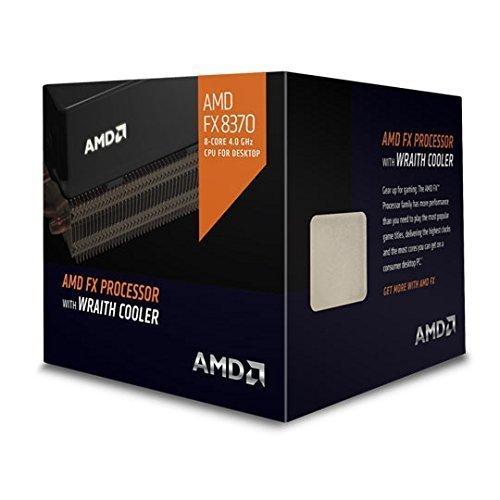 AMD 4 GHz FX-8370 Octa-core  Desktop Processor with Wraith Cooler, Black Edition FD8370FRHKHBX