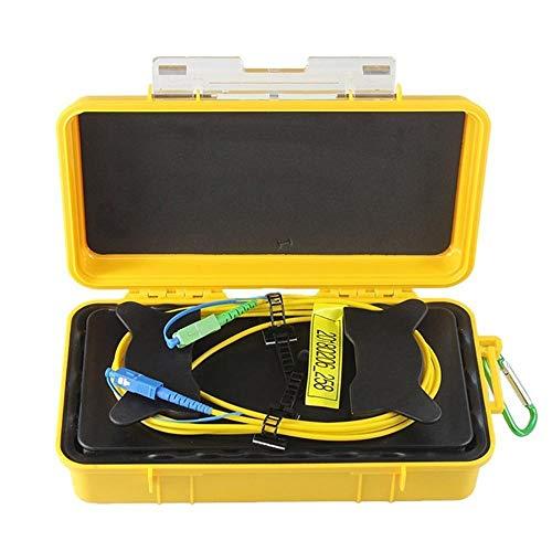 Pier Telecom OTDR Dead Zone Eliminator Fiber Optic Launch Cable Box SC-UPC/SC-APC 1km SM 1310/1550nm (Otdr Launch Cable)