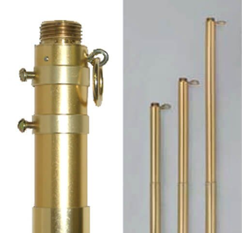 Adjustable Gold Aluminum Pole (6 ft to 10 ft./1-1/8 in. dia. Bottom to 1 in. dia. Top)