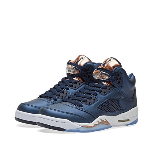 Size 7 Youth Nike ''Bronze'' Air Jordan 5 Retro BG 440888 416 Athletic Sneakers