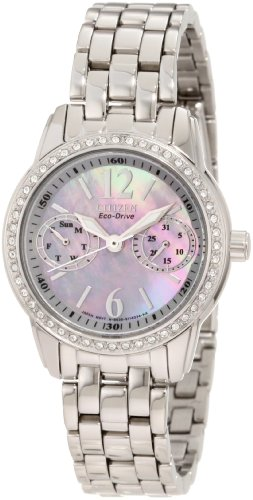 Pulsar Women s PEGE27 Swarovski Crystal Stainless Steel Bangle with Black Dial Watch