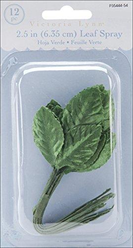 Darice Triple Leaf, 2.5-Inch, Green, 12-Pack