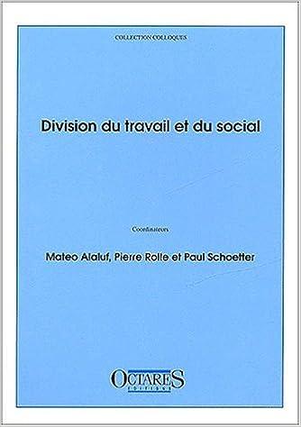 Lire en ligne Division du travail et du social pdf, epub