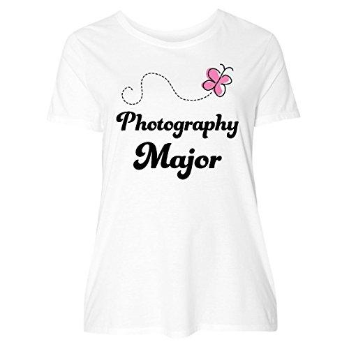 inktastic Photography Major Women's Plus Size T-Shirt 2 (18/20) White