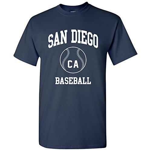 San Diego Classic Baseball Arch Basic Cotton T-Shirt - X-Large - Navy