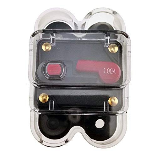 FTVOGUE DC12V Circuit Breaker Reset Fuse 80-300A for Car Marine Boat Bike Stereo Audio 100A