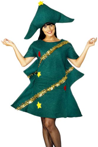 Smiffy's Christmas Tree Adult Costume,Green,Standard