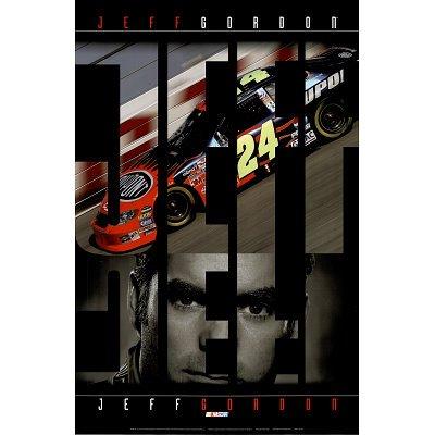 (24x36) Jeff Gordon (Car, Face) Sports Poster Print (Jeff Gordon Wall)