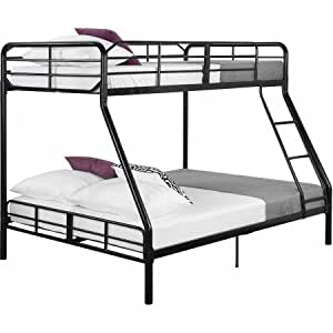 Mainstays Twin Over Full Bunk Bed Sturdy Metal Frame Kitchen Am