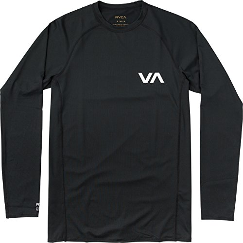 RVCA Men's Long Sleeve Rashguard, Black, XL by RVCA