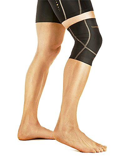 Tommie Copper Mens Performance Triumph Knee Sleeve, Black, Medium