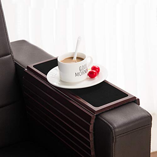 GEHE Sofa Arm Tray Table for Couch Flexible/Foldable Sofa Tray Couch arm Table Perfect for Drinks Snacks Remote Control or Phone Great arm Tray for Couch armrest