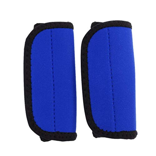 FHelectronic 2 Pieces Kayak Paddle Grips Paddle Fastening Tape Prevent Rubs Blisters Protect Your Finger Canoe Boat Accessories (Blue)