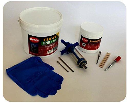 Decco Wood Flooring Repair Kit, FIX-IT, Drill & Fill