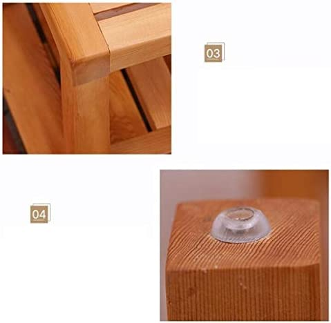 Haushalt rutschfester Duschhocker Badhocker Holzduschsitz Hocker Holz ändern Schuhe Hocker for Ältere / Behinderte Anti-Rutsch-Schnell trocknend Feuchtigkeitsgeschützte Heavy Duty Duschsitz Hocker for