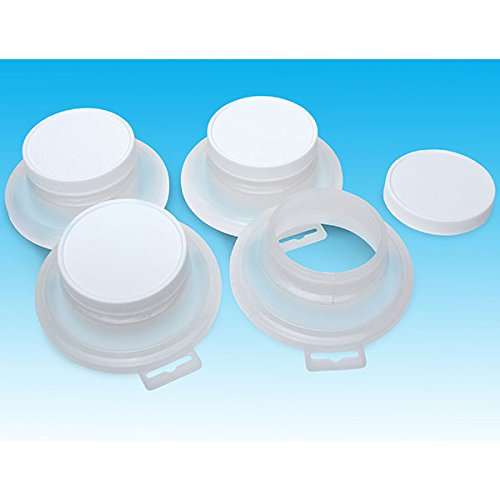 Eastwood 4-Packs Pour It Sealing Lids & Paint For Quart Store Cans No Mess Reusable Heavy Plastic Lid