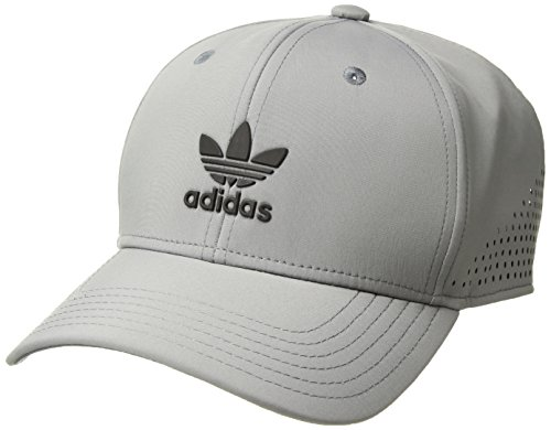 - adidas Men's Originals Tech Mesh Structured Snapback Cap, Grey/Black, One Size