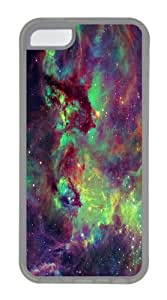 iPhone 5C Case and Cover -Seahorse Nebula TPU Silicone Rubber Case Cover for iPhone 5C Transparent