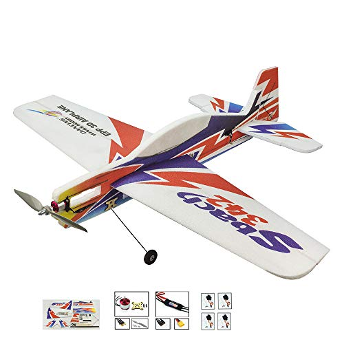 """Upgrade 3D EPP RC Plane Kit Sbach342 Aerobatic Flying Airplane, 39"""" Wingspan Foam RC Aircraft Model Fixed Wing, DIY 4CH Electric Remote Control RC Aeroplane for Adults Outdoor Fly(KIT+Motor+ESC+Servo) from Viloga"""