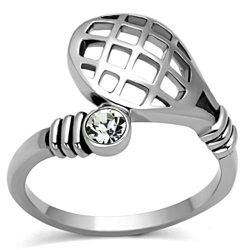 Tennis Racket and Ball Fashion Ring