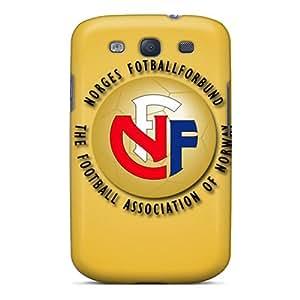 High Grade OrangeColor Flexible Tpu Case For Galaxy S3 - Norway Football Logo
