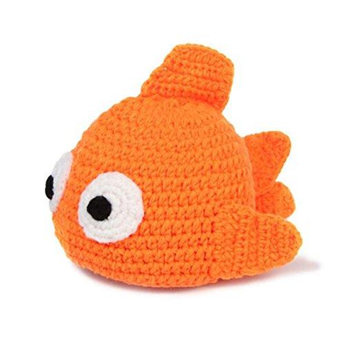 CX-Queen Newborn Handmade Crochet Knitted Goldfish Hat Photography Props (Infant Goldfish Costume)