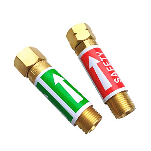 Valvola di sicurezza valvola di non ritorno HF-J Flashback Valvola di sicurezza Valvola di ritenuta anti-ritorno per gas Copper /& Blue