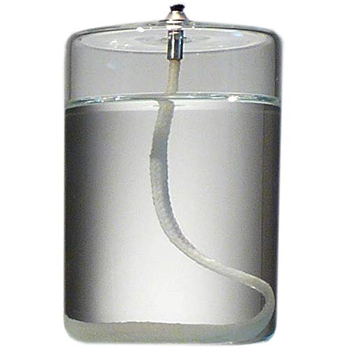 Cranberry Vase Glass (Firefly 4-Inch Refillable Glass Pillar Candle for Use Standalone, in Hurricane Candle Holders, Lanterns & Lamps)