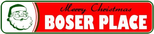 boser-place-personalized-lastname-merry-christmas-santa-novelty-sign-4x18-quality-aluminum-sign