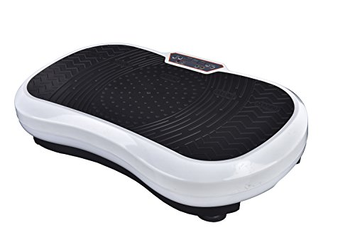 Cheap Enjoyfit Fitness Vibration Platform,Whole Full Body Shape Exercise Machine,Vibration Plate,Fit Massage Workout Trainer with Two Bands &Remote,Max User Weight 330lbs W/Remote Control (White)