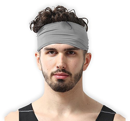 Mens Headband - Guys Sweatband & Sports Headband for Running, Crossfit, Working Out and Dominating Your Competition - Ultimate Performance Stretch & Moisture Wicking