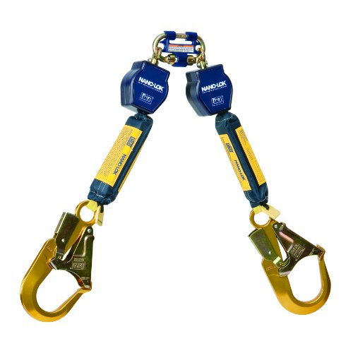 3M DBI-SALA Nano-Lok Personal Fall Protection Self Retracting Lifeline, Twin-leg, Web Construction 3101277, 6 ft. (1.8m), 1 EA