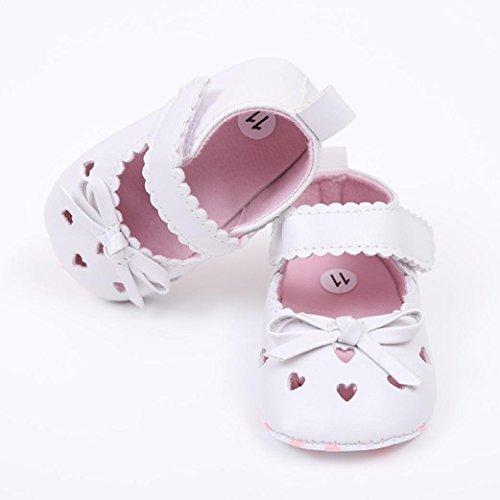 Igemy 1 Paar Neugeboren Infant Baby Girls Krippe Schuhe Soft Sole Anti-Rutsch Sneakers Bowknot Schuhe Weiß