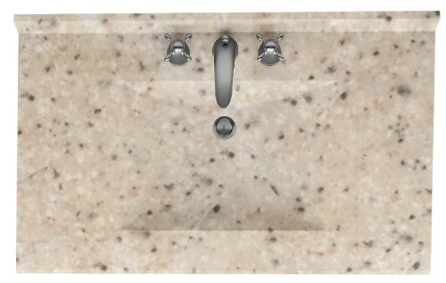 Swanstone CV2237-040 Contour Solid Surface Single-Bowl Vanity Top, 37-Inch by 22-Inch, Bermuda Sand (Sand Swanstone Vanity Top)
