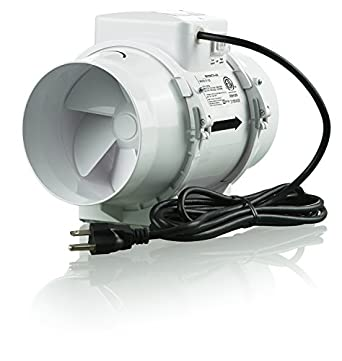 "4"" 105 CFM ТТ100 Inline Mixed-Flow Fans Turbo Tube (TT) Series"