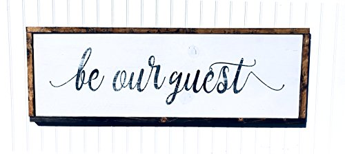 Be Our Guest Wood Sign hand painted guest room wood sign, di
