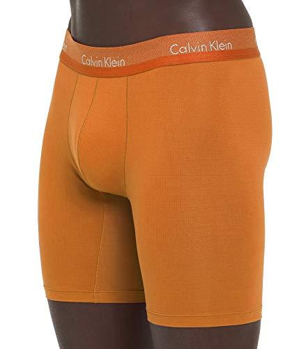 (Calvin Klein Men's Underwear Light Boxer Briefs (Bell Orange, Large))