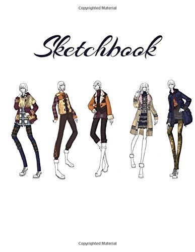 Amazon Com Sketchbook Fashion Design Sketches Tredning Clothes Drawings Wardrobe Design Costume Cosplay Design 9781709593154 Stylish Fashion Sketches Books