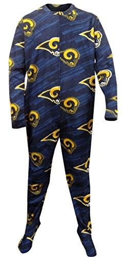 Concepts Sport Men's Los Angeles Rams One Piece Footie Pajama ()