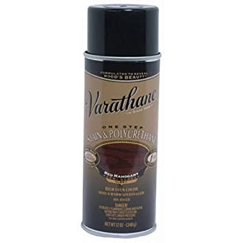 Rust Oleum 243867 Varathane Stain And Polyurethane Spray Red Mahogany