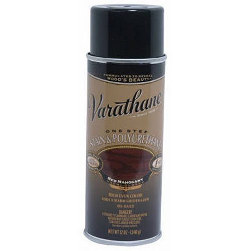 (Varathane 243867 Wood Stain & Polyurethane Spray, 12 oz, Red Mahogany)