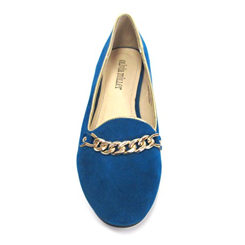 Metalic Teal Trimmed Chained Smoking Olivia Womens Shoes Miller Hana pvf8nxI