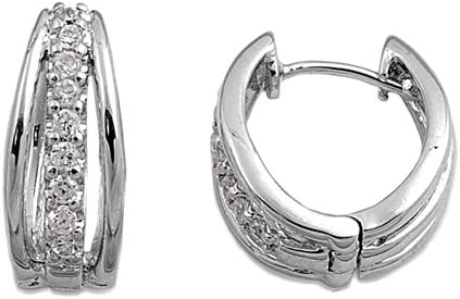 Pequeños Merveilles d'amour-Pendientes para mujer de plata fina 925/1000, con circona