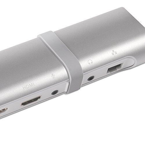 Club 3D USB 3.0 Universal Docking Station USB 3.0 to HDMI DVI VGA Video Multi-Display Adapter 5-Port USB3.0 Hub Gigabit Ethernet SD TF Card Reader Audio Port for Windows 10/8/7 Vista XP Mac OS X Linux by CLUB3D (Image #1)