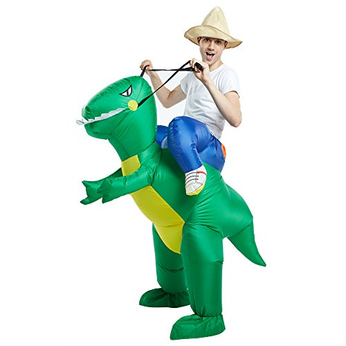 Timmins Inflatable Costume Dinosaur T-Rex for Adult Halloween Suit Fancy Dress (Fancy Dress Costumes Company)